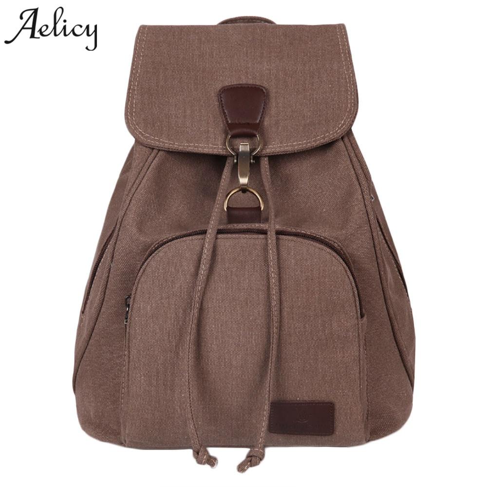 Canvas Backpack Schoolbag For Girls Rucksack Design Laptop Backpacks Large Capacity Mochila Feminina
