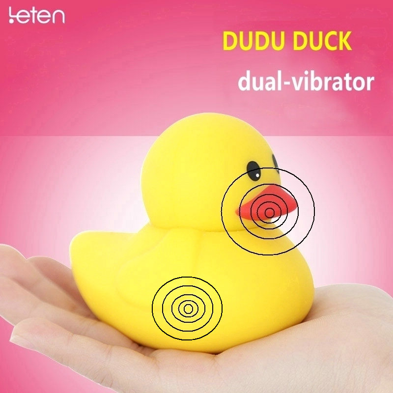 USB Rechargeable Leten Duck Massager Clitorial Stimulator Silicone Vibrators For Women Erotic Toy Adult Sex Toys Sex Products qi wireless charger charging receiver transparent cover