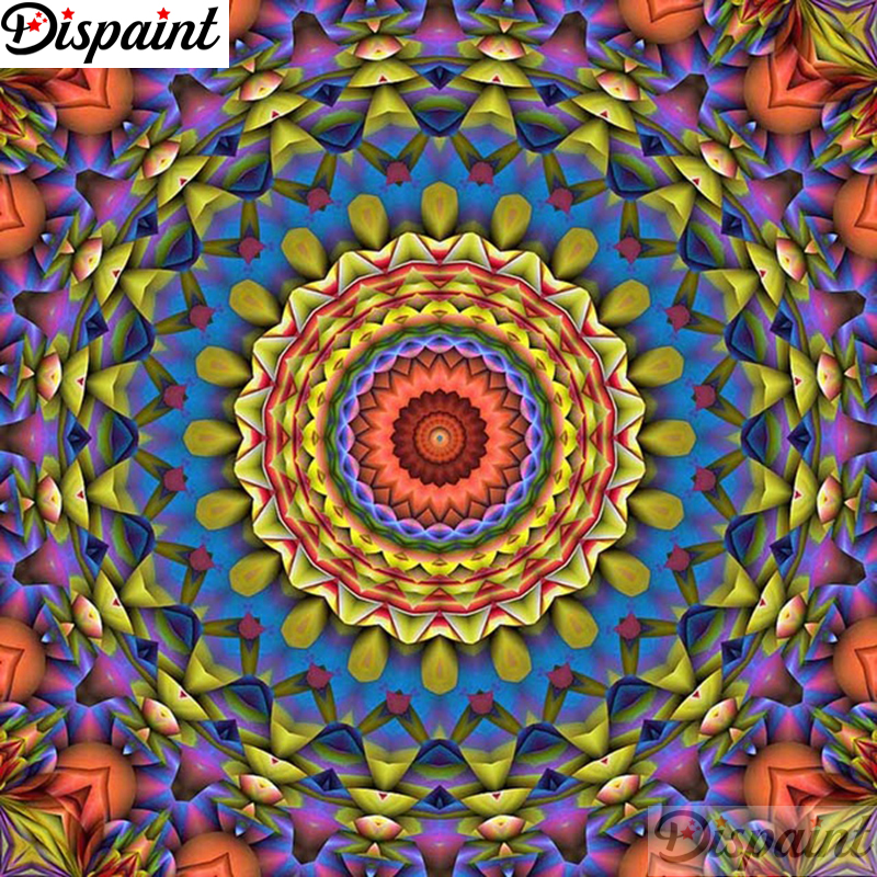 Dispaint Full Square Round Drill 5D DIY Diamond Painting quot Mandala scenery quot Embroidery Cross Stitch 3D Home Decor Gift A11348 in Diamond Painting Cross Stitch from Home amp Garden
