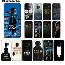 221B Sherlock Holmes Soft Silicone TPU Phone Cover case For Samsung Galaxy s9 s8 plus note 8 note9 s7 s6edge cases Babaite