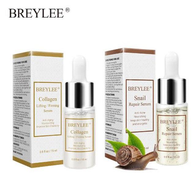 Levantamiento de colágeno BREYLEE reafirmante Caracol reparación suero Anti-envejecimiento hidratante Facial ourishing Anti-Acné cuidado de la piel