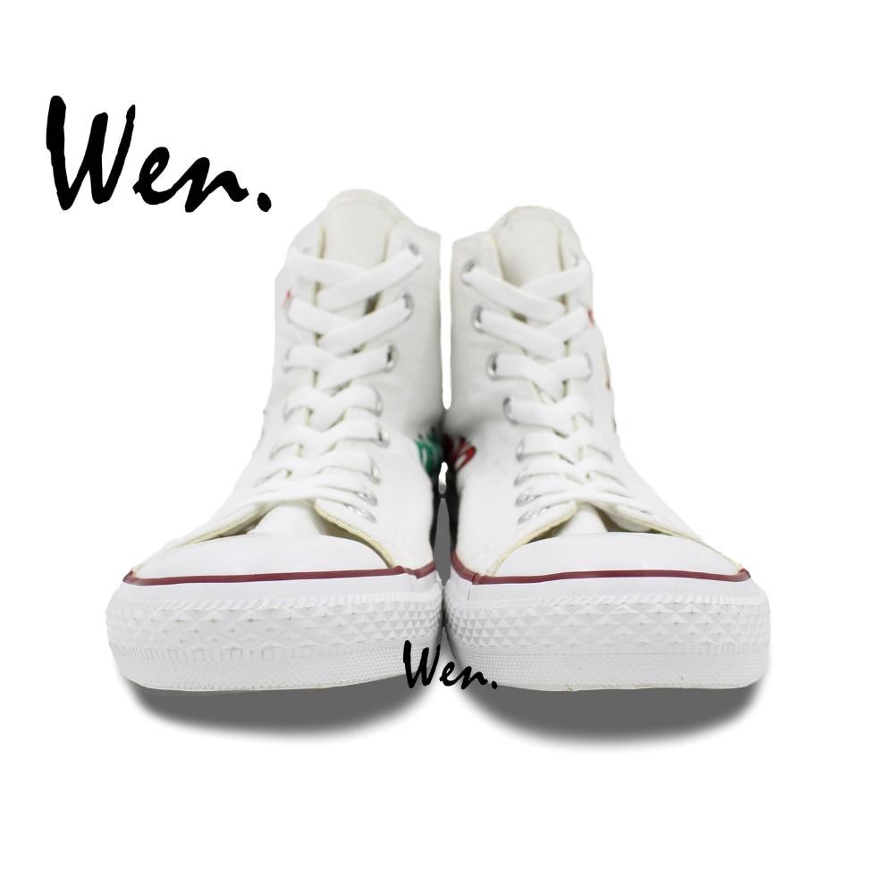 UIN Exprimer l'amour Chaussures bateau de toiles peintes blanc pour homme (41) TltpU