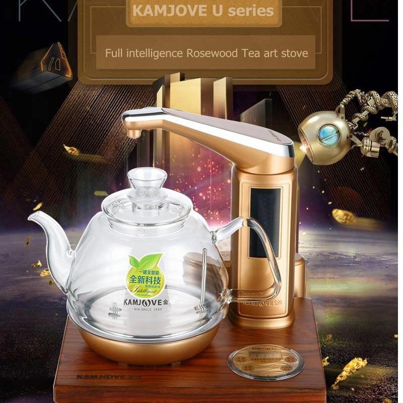KAMJOVE U7 Intelligent Wood carving electric heating tea art stove kettle  boil tea health smart rosewood electric tea stove - Wood Stove Brands Promotion-Shop For Promotional Wood Stove Brands