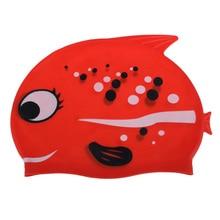 Cartoon Fish Swimming Cap