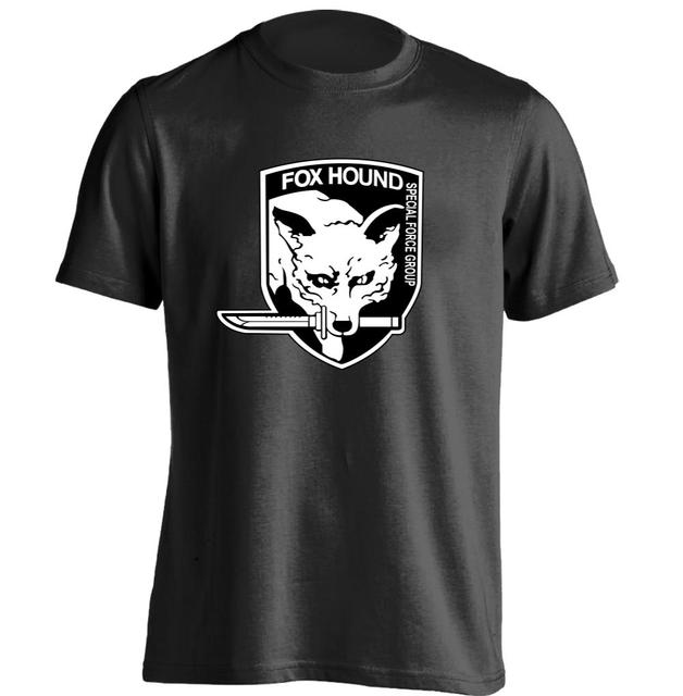 Fox T Shirt Design   Fox Hound Metal Gear Solid Mens Womens Druck T Shirt Shirt Design