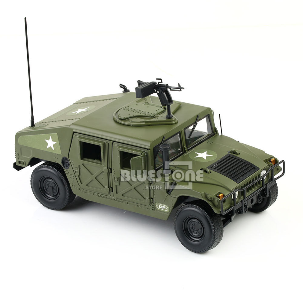 KDW 1/18 Scale Diecast Military Army Humvee Battlefield Vehicle Model Toys maisto jeep wrangler rubicon fire engine 1 18 scale alloy model metal diecast car toys high quality collection kids toys gift
