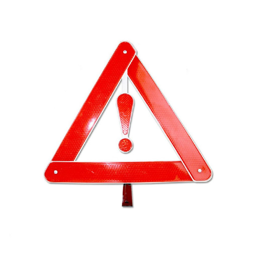 Car Auto Reflective Warning Board Stop Vehicle Danger Emergency Foldable Tripod Roadway Parking Safety Triangle Sign ...