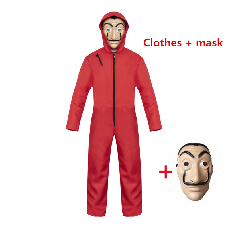 Movie La Casa De Papel Salvador Dali Costume & Face Mask The House of Paper Party Cosplay Halloween Money Heist Costume Playing