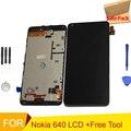 Для Microsoft Nokia Lumia 640 ЖК-Дисплей с Сенсорным Экраном Дигитайзер Ассамблеи с рамкой + Инструменты