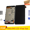 For Microsoft Nokia Lumia 640 LCD Display with Touch Screen Digitizer Assembly with frame +Tools