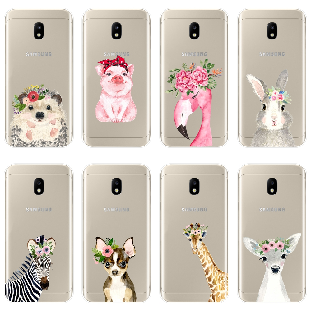 Flamingo Pig Phone <font><b>Case</b></font> For <font><b>Samsung</b></font> Galaxy J3 J5 <font><b>J7</b></font> 2015 2016 2017 J4 J6 J8 Plus 2018 J2 J5 <font><b>J7</b></font> Prime Soft Silicone Back Cover image