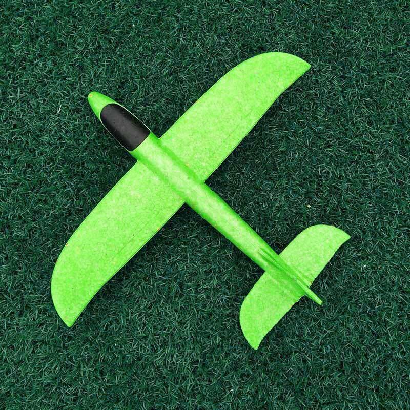 35 см детские игрушки «сделай сам» ручной бросок летающий самолет s пена модель аэроплана светится в темноте Летающий Plane Самолет игрушки для детей - Цвет: 35cm Not Lamp Green