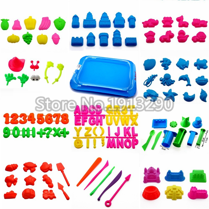 Slime Mold Tools Sand Tray Play Dough Plasticine Playdough Polymer Clay Beach Building Castle Model Kids Toy For Dynamic Sand
