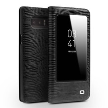 Fashion Pattern Smart Phone case for Samsung Galaxy note 8 N9500 Genuine Leather cover Original Sensing Chip wake up & sleep