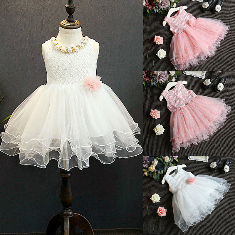 Kid Summer Dress For Girl Lace Flower Cute Little Princess ...
