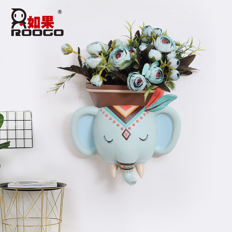 Image 3 - Roogo Wall Mounted Groot Flower Pot Modern Annimal Plant Pot Garden Hanging Pots Home Decor Balcony Decorations Pots Planter-in Flower Pots & Planters from Home & Garden
