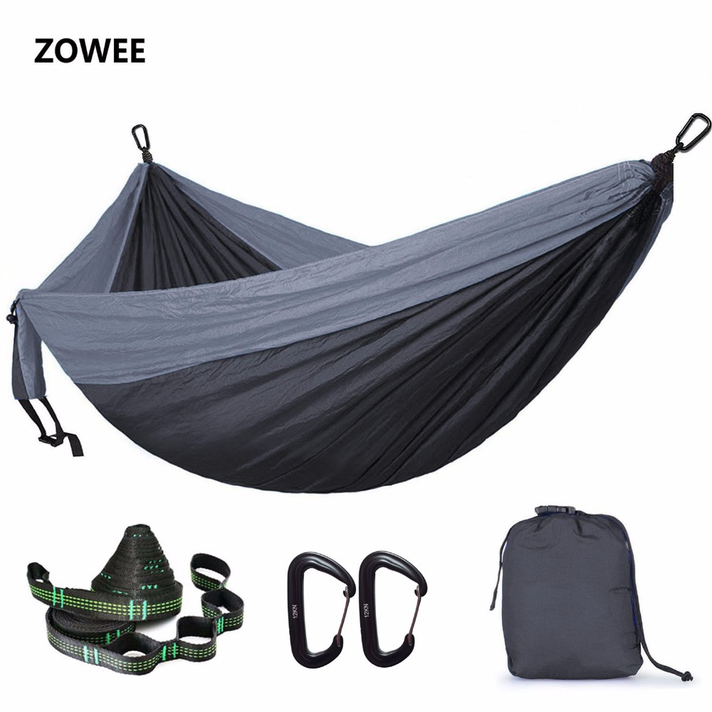 118in X 79in Parachute Hammock Camping Survival Garden Hunting Leisure Hammock Travel Double Person Hamak Ramac