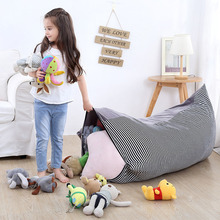 Gray Portable Kids Toy Storage Bag and Play Mat Toys Organizer Bin Box Fashion Practical Crystal Velvet Storage Bags For Clothes