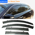 Car Stylingg Awnings Shelters 4pcs/lot Window Visors For Nissan Teana 2008-2016 Sun Rain Shield Stickers Covers