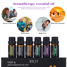 100% Pure Natural Aromatherapy Oils Kit For Humidifier Water-soluble Fragrance Oil compound Essential Oil Set 6Pcs TSLM1