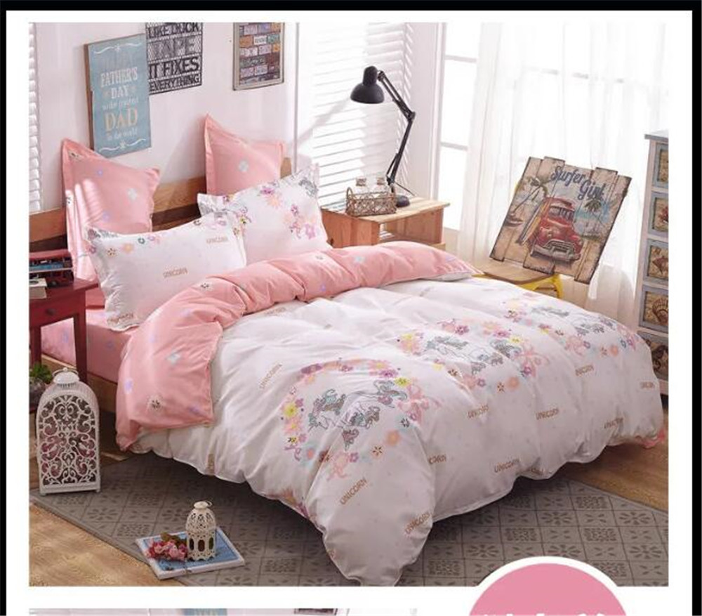 unicorn cartoon comforter bed bedding set 4 5pcs printing quilt duvet cover  coverlet queen king. Popular Pink Comforter Cover Buy Cheap Pink Comforter Cover lots
