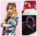 2014 женщины длинный шарф шелковый шарф небольшой твилли лента диапазон волос сумки ручка украшения галстук-бабочка Многофункциональный ленты