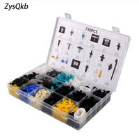 17 Kinds Mixed 730PCS Auto Fastener Car Universal Bumper Fixed Clamp Push Type Clip for All Automobile Series Fastener