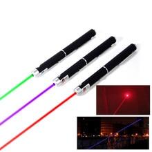 Laser pointeur Mini 5 MW 532nm rouge violet vert Laser puissant présentateur télécommande Laser (piles non incluses)