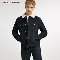 JackJones Men's 100% Cotton Fleece Denim Jacket 218457502
