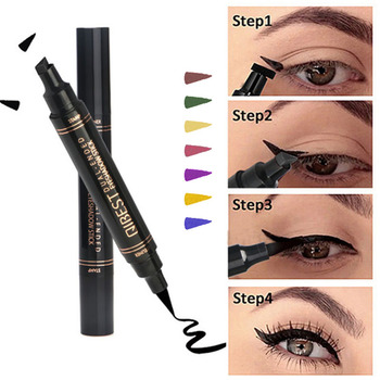 12Color Eyeliner Pencil Pigment Long Lasting Eye Liner Waterproof Eyes Makeup Seal Stamp Eyeliner Cosmetics Pen Black Brown Blue
