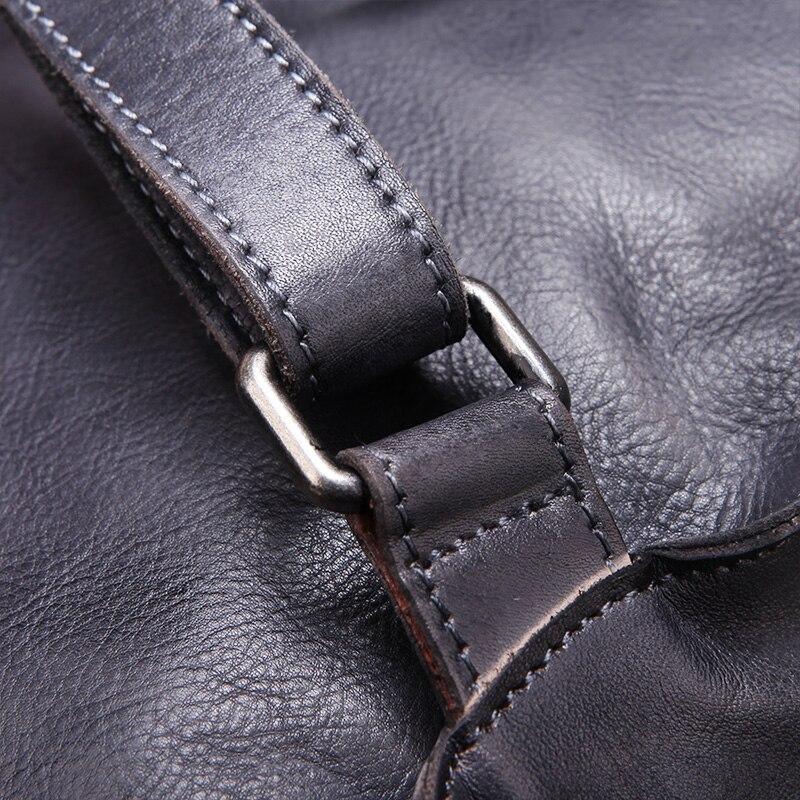 Женский рюкзак осень 2019, оригинальный рюкзак из натуральной кожи, винтажный рюкзак для отдыха с ручкой сверху, сумки на плечо, Коровья кожан... - 5