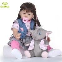 60 см силикона Reborn Baby Doll игрушки 24 дюймов принцесса малыша lol оригинальный куклы-младенцы reborn девочек Brinquedos игровой дом игрушки