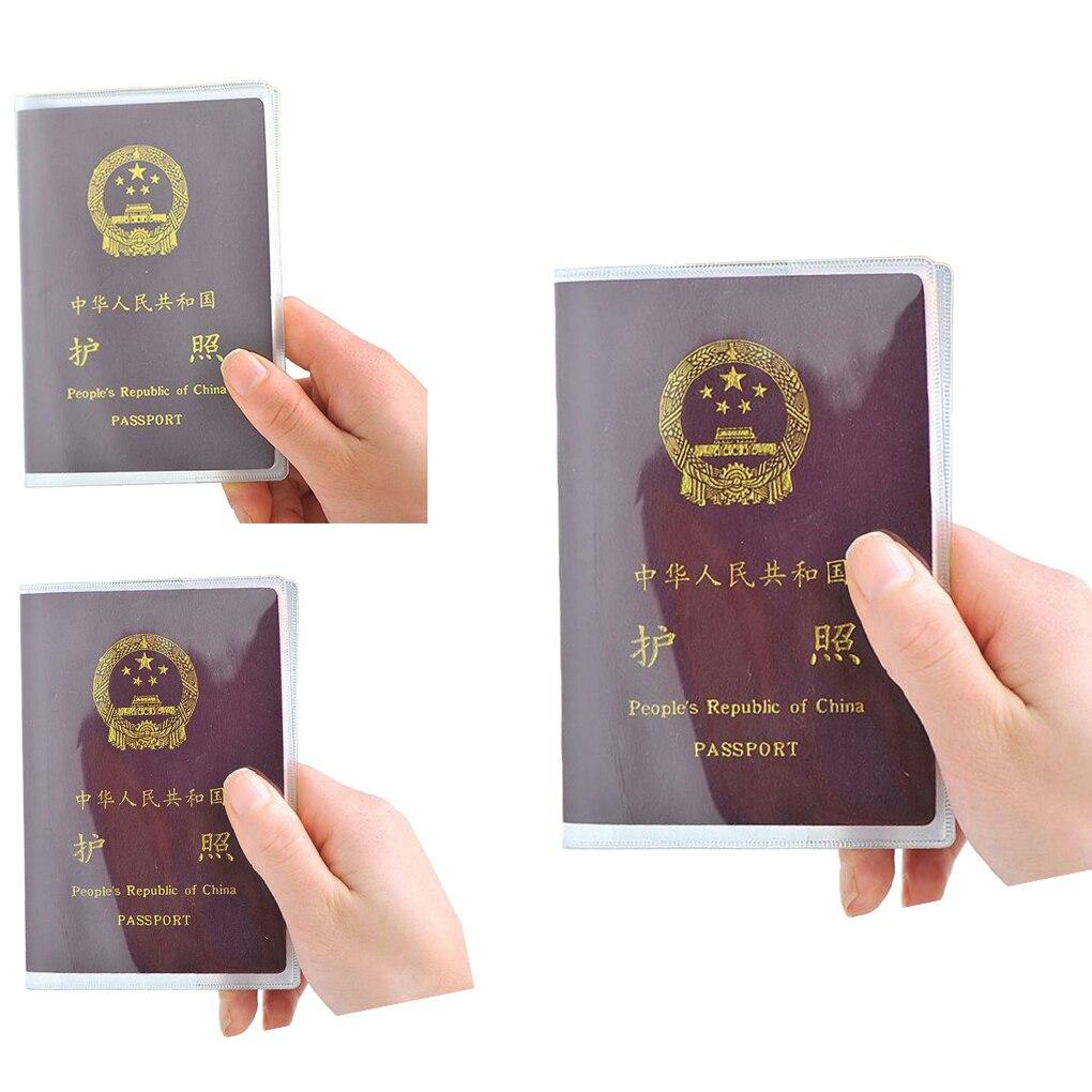 10PCS Passport Transparent Protective Cover Plastic PVC Waterproof ID Card Protector Case