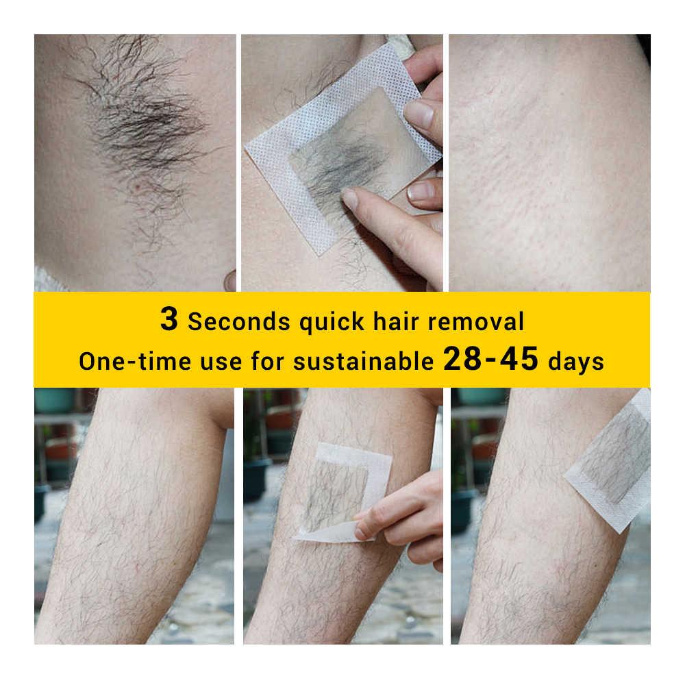 LANBENA epilasyon balmumu şeritler belgeleri doğal balmumu Çift taraflı depilasyon uprooted ipeksi tüm vücut Güzellik