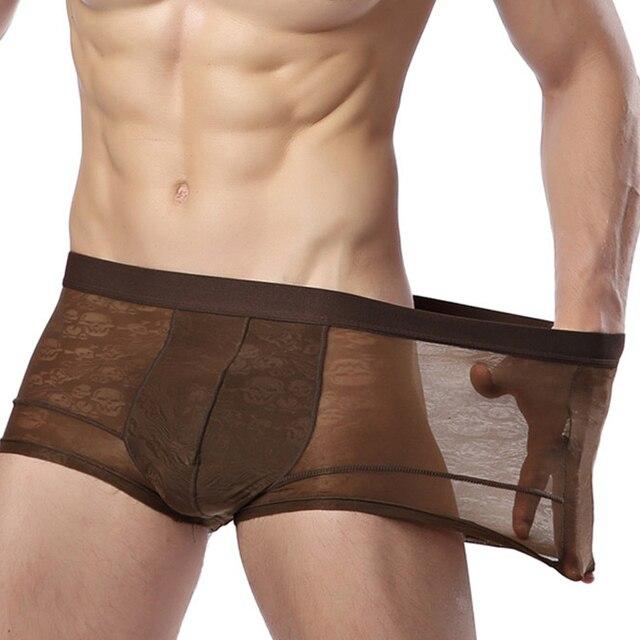 Men's Pants Bamboo Fiber Modal Underpants Mens Transparent 7 Colors Underwear Men  Loose 3XL