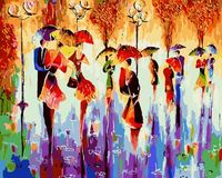 DIY Oil Paint Painting By Numbers Diy Picture Drawing Coloring 2017 Dance With An Umbrella On