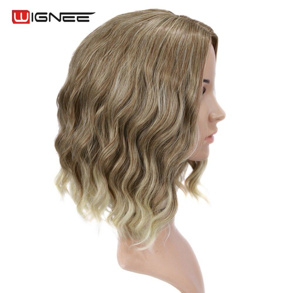 Wignee Mixed Color 613 Korta Kinky Curly Parykar För Kvinnor Hög - Syntetiskt hår - Foto 3