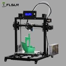 Корабль из Европейского Склада Flsun3D 3D-принтеры автоматическое выравнивание i3 3D-принтеры комплект с подогревом двух рулонов нить SD Card подарок