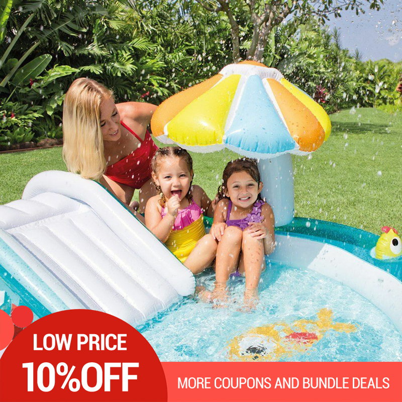 Egoes Pool Inflatable 57129 GATOR CHILDRENS ACTIVITY WATER PLAY CENTRE PADDLING POOL SLIDE SPRAY