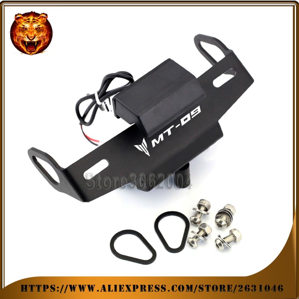 For <font><b>YAMAHA</b></font> MT09 FZ09 MT-09 FZ-09 14-16 Motorcycle Fender Eliminator Registration License <font><b>Plate</b></font> TailLight LED Holder Bracket cnc