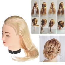 Beauty Girl New Female Dummy Head Long Hair Hairdressing Training Head Model Oct 28