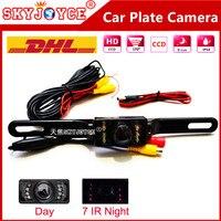 20 X DHL Freeshipping Rear View Camera Car License Plate Camera Night Vision Car Camera CCD