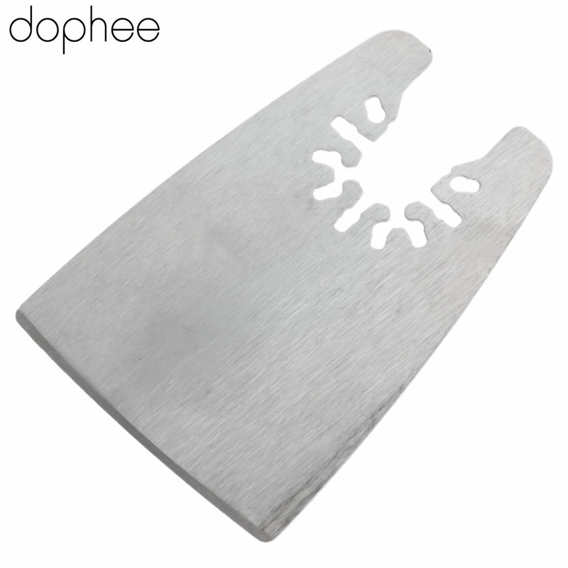 Dophee 52*74.5mm Oscillating Multitool Stainless Steel Oscillating Scraper Saw Blade Cutting For Bosch Dremel Fein Power Tool
