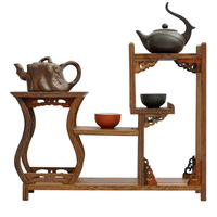 Ming And Qing Furniture Mahogany Wenge Treasure House Side Bottle Rack Shelf Antique Teapot Swing Frame