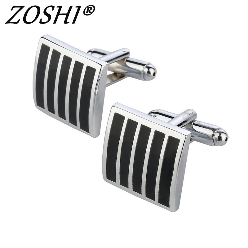 ZOSHI Hot Selling Business Square Black Cufflinks For Mens ...