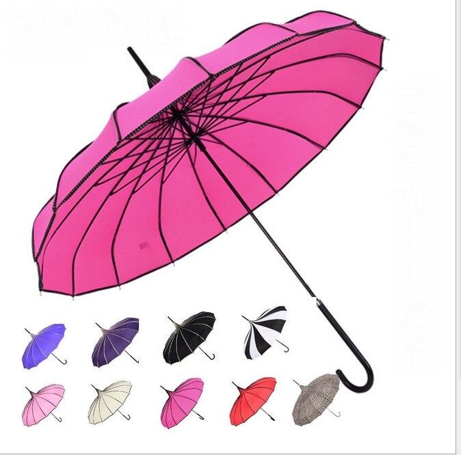 Household Merchandises Sensible New Fashion Pagoda Umbrella Pagoda Peak Ingenuity Umbrella Parasol Many Colors To Choose 50 Pcs/lot High Safety