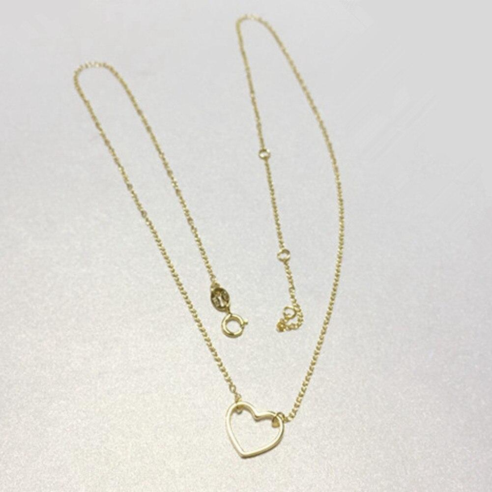 Պարզ ոճով սրտի վզնոց 925 կանանց զարդեր - Նուրբ զարդեր - Լուսանկար 5