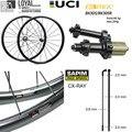 Супер светильник  вес  углеродное волокно  700C  дорожный велосипед  колесо  аэро  велосипедная коляска с BITEX 305F 305R  прямой Тяговый концентратор...