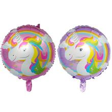 New 18 Inch Cartoon Unicorn Ball Childrens Birthday Party Supplies Decorations Kids  Aluminium Foil ballons