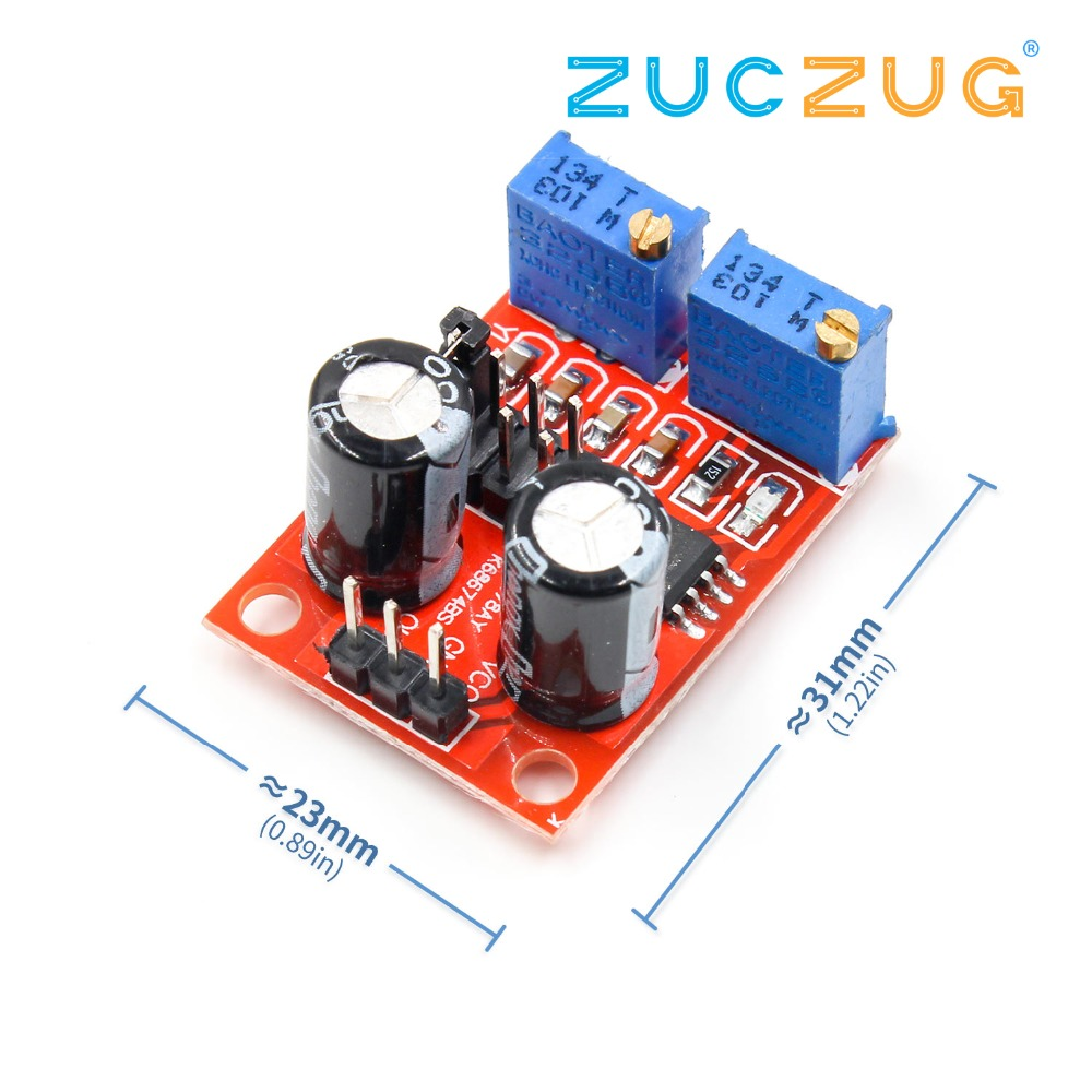 100pcs Ne555 Ne555p Ne555n 555 Timers Dip 8 Ic In Integrated New High Quality Circuit Pulse Frequency Duty Cycle Adjustable Module Square Wave Signal Generator
